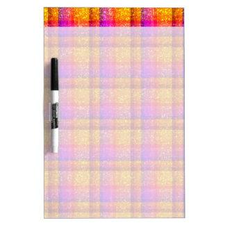 Glittery Neon Plaid Dry Erase Boards