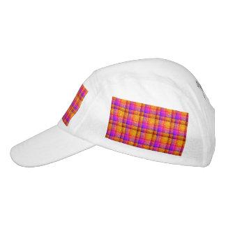 Glittery Neon Plaid Hat