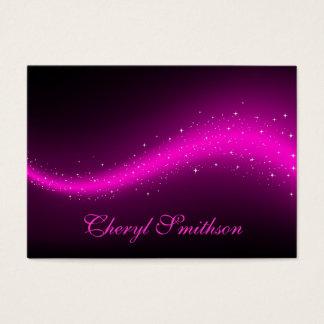 Glittery Pink Business Card