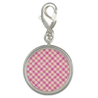 Glittery Pink & Yellow Plaid