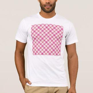 Glittery Pink & Yellow Plaid T-Shirt
