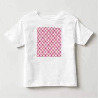 Glittery Pink & Yellow Plaid Toddler T-Shirt