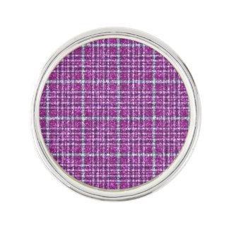 Glittery Purple Awareness Plaid Lapel Pin