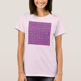 Glittery Purple Awareness Plaid T-Shirt