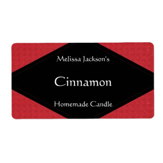 Glittery Red Soap or Candle Label Shipping Label