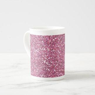 Glittery Shiny Pink Glitters Bone China Mug