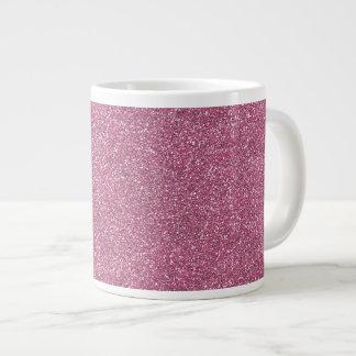 Glittery Shiny Pink Glitters Jumbo Mug