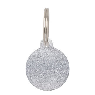Glittery Silver Ombre Pet ID Tags