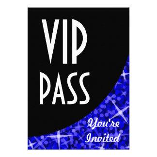 Glitz Dark Blue black curve VIP Pass invitation
