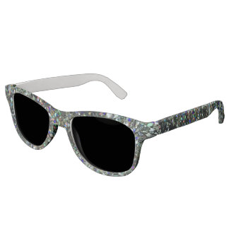 Glitz Dark Hologram Glitter Sunglasses! Sunglasses