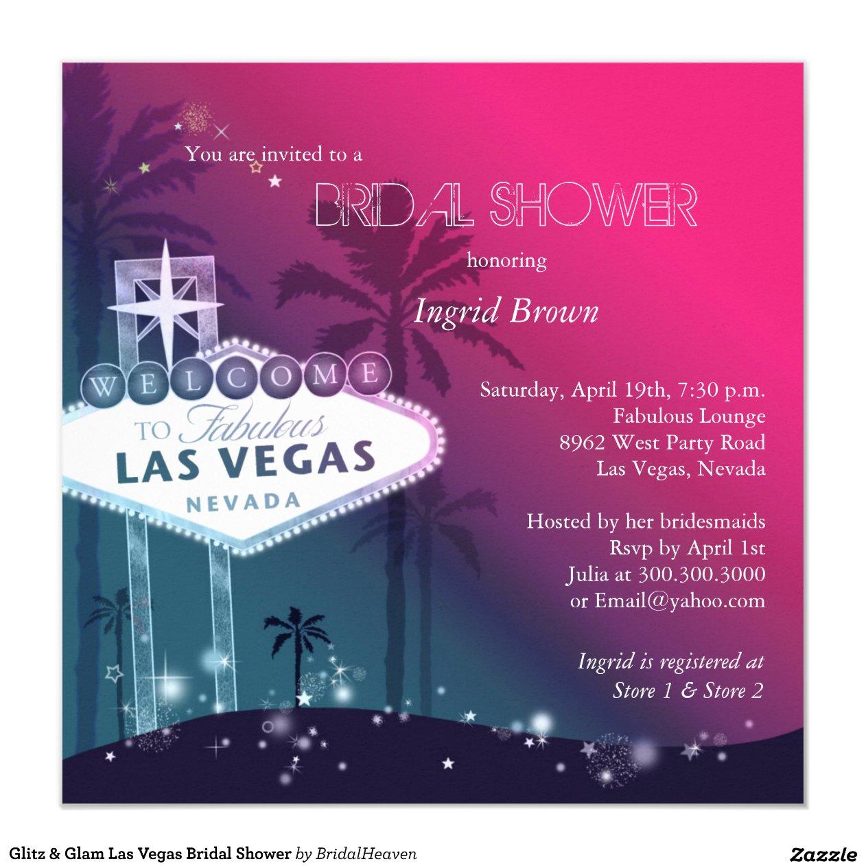 Las Vegas Bridal Shower Invitations 28 Images