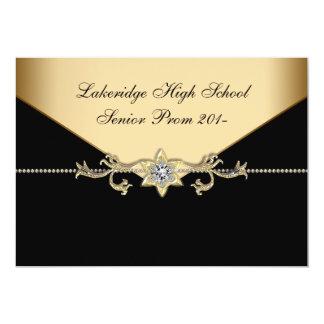 Glitz Glamour Black Tie Prom 13 Cm X 18 Cm Invitation Card
