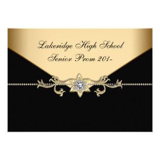 Glitz Glamour Black Tie Prom Personalized Announcement