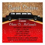 Glitz Glamour Red Carpet Movie Star Invitations 13 Cm X 13 Cm Square Invitation Card