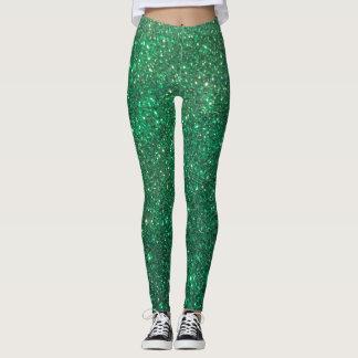 Glitz Glitter Green Holiday Christmas Leggings! Leggings