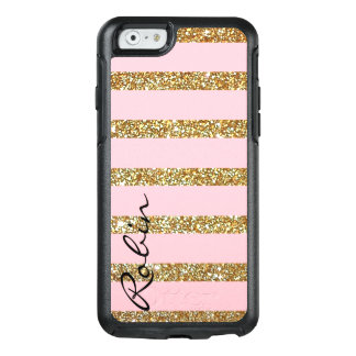 Glitz Gold and Pink Otterbox iPhone 6S Case
