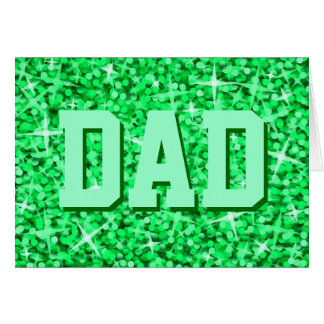 Glitz Green 'DAD' 'Happy Birthday' card