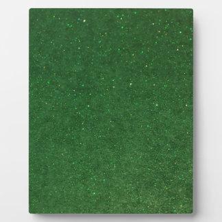 GLITZ Green Plaque