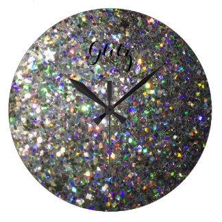 Glitz Hologram Glitter Wall Clock! Clocks
