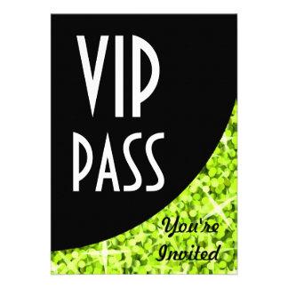 Glitz Lime black curve VIP Pass invitation