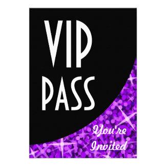 Glitz Purple black curve VIP Pass invitation