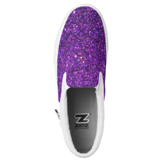 Glitz Purple Glitter Shoes! Slip On Shoes