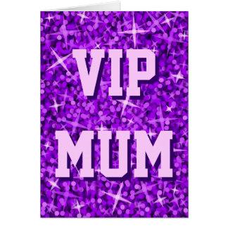 Glitz Purple 'VIP MUM' greetings card