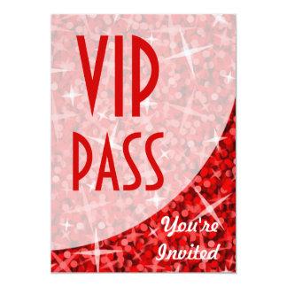 """Glitz Red curve """"VIP Pass"""" invitation"""