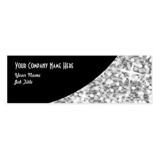 "Glitz ""Silver"" Black Curve business card skinny"