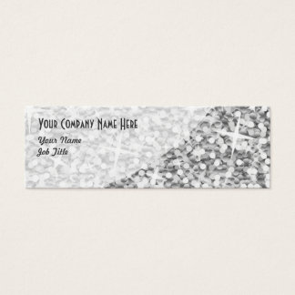 "Glitz ""Silver"" Curve business card skinny"