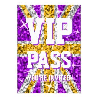 Glitz UK Gold 'VIP PASS' invitation