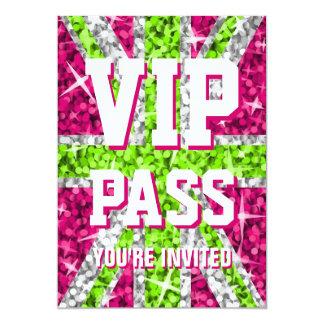 Glitz UK Lime 'VIP PASS' invitation