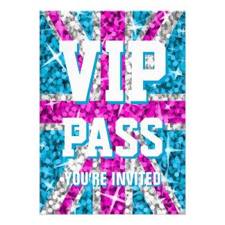 Glitz UK Pink 'VIP PASS' invitation