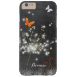 Glitzy Chalkboard Dandelion iPhone 6 Plus Case