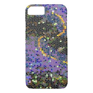 Glitzy Design with a Splash of Colour iPhone 7 Case