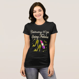 GLITZY GOLD 60 AND FABULOUS BIRTHDAY DESIGN T-Shirt