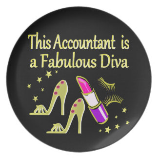 GLITZY GOLD ACCOUNTANT DESIGN PARTY PLATE