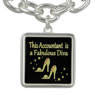 GLITZY GOLD ACCOUNTANT DIVA DESIGN