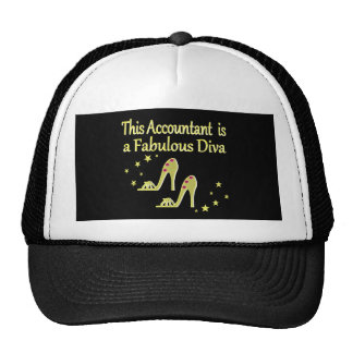 GLITZY GOLD ACCOUNTANT DIVA DESIGN CAP