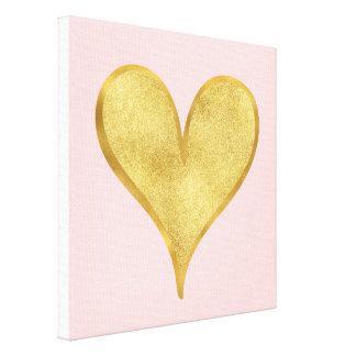 Glitzy Gold Heart Canvas Print