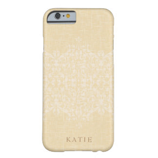 Glitzy Gold & Lace Monogram Barely There iPhone 6 Case