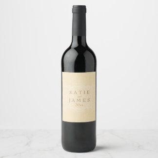 Glitzy Gold & Lace Wine Label
