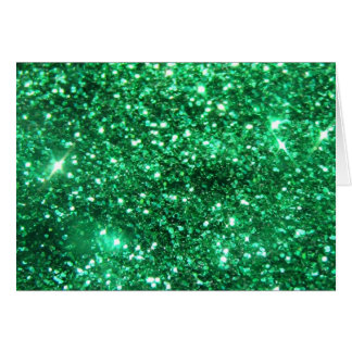 Glitzy Green Glitter Card