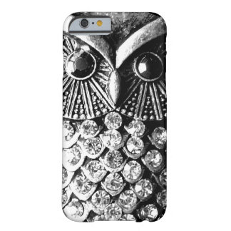 Glitzy Jewelled Metal Owl Barely There iPhone 6 Case