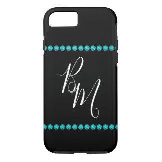 Glitzy Ladies Monogram Bling Design iPhone 8/7 Case