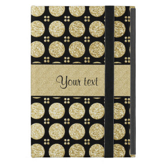Glitzy Sparkly Faux Gold Glitter Buttons Case For iPad Mini