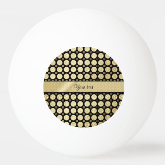 Glitzy Sparkly Faux Gold Glitter Buttons Ping Pong Ball