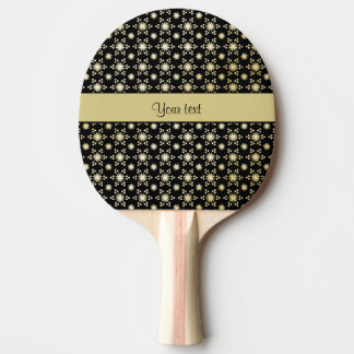 Glitzy Sparkly Faux Gold Stars Ping Pong Paddle