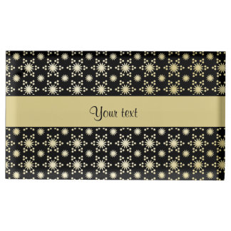 Glitzy Sparkly Faux Gold Stars Place Card Holder