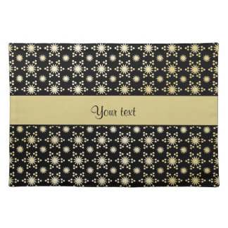 Glitzy Sparkly Faux Gold Stars Place Mat
